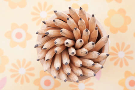 objects: abstract objects still life.pencils