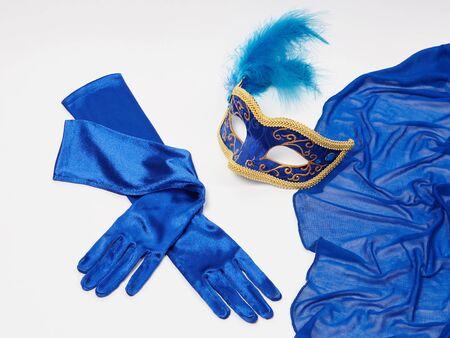 beauty still life.mask and silk gloves.masquerade