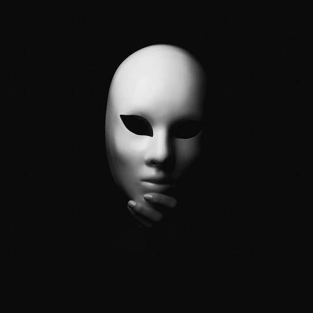 Masker in hand.halloween begrip Stockfoto - 46754206