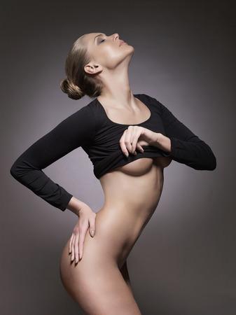 femme noire nue: sexy belle femme nue. beaut� nue girl.fashion portrait Banque d'images