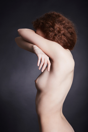 nude woman portrait.naked sexy girl with perfect body
