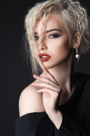 beautiful young woman.Girl with make-up