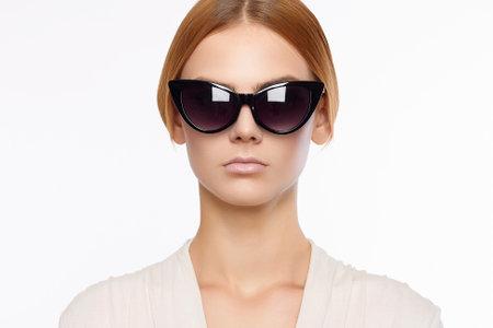 beautiful young woman. fashion portrait of beauty girl in sunglasses