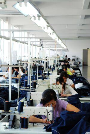 coser: taller de producci�n de la f�brica de ropa