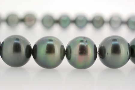 closeup of  dark tahitian pearl strand  Stock Photo - 2158458