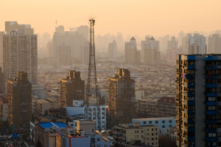 elevate: Shanghai evening view