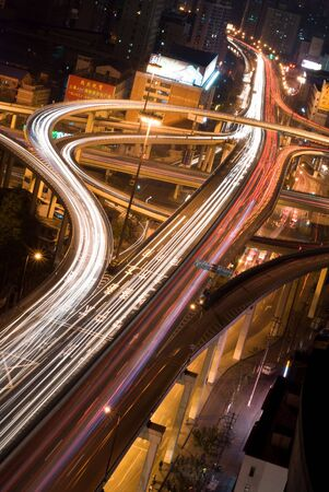 intersection of elevated highway in Shanghai02 photo