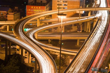 intersection of elevated highway in Shanghai01 photo