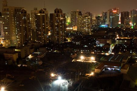 night scene of Shanghai03 photo