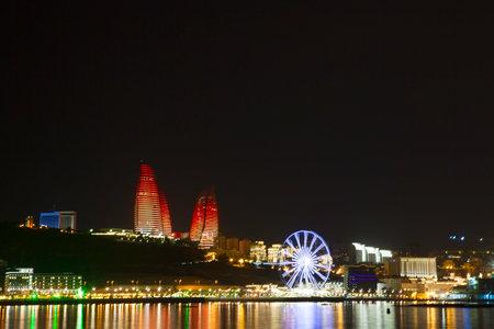 baku: Beautiful Baku panoramic view from highland park in Azerbaijan Editorial