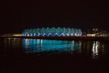 baku: Beautiful Baku panoramic view of euro vision concert hall