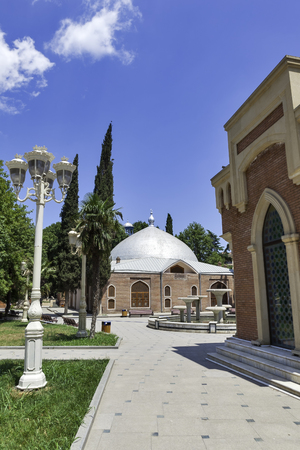 azeri: Mosque in Gyandzha Azeri style Stock Photo