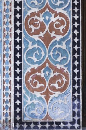 tempera: textures of the Palace of Shaki Khans in Azerbaijan
