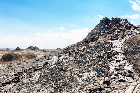 hydrocarbon: Gobustan mud volcano in Azerbaijan (Qobustan, close to Baku)