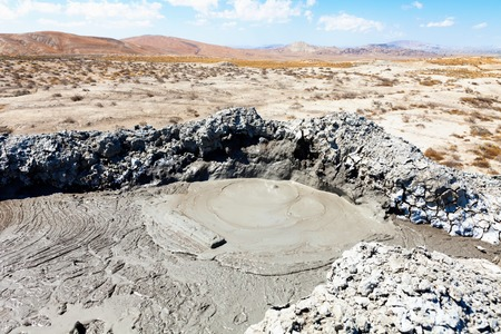 azeri: Gobustan mud volcano in Azerbaijan (Qobustan, close to Baku)