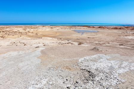 pressurized: Gobustan mud volcano in Azerbaijan (Qobustan, close to Baku)
