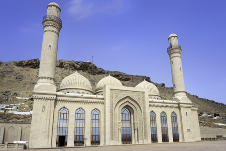 baku: BAKU, AZERBAIJAN: Bibi-Heybat Mosque located on Absheron