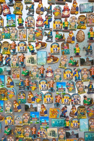 azeri: collection of Azerbaijan fridge magnets in Sheki