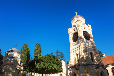 The Old church is dedicated to the Descent of the Holy Spirit on the Apostles. Founded by Prince Milos was reconstructed several times Stock Photo