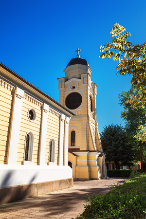 hostages: The Old church is dedicated to the Descent of the Holy Spirit on the Apostles. Founded by Prince Milos was reconstructed several times Stock Photo