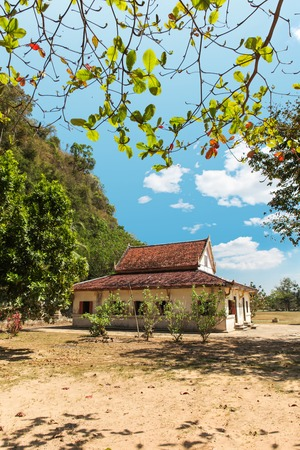 rapping: Wat Thep Charoen near Chumphon, Thailand. Located in Tambon Thakham, monastery is located at the foot of the hill Rapro in the ancient seaport Stock Photo