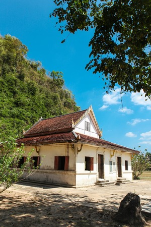 Wat Thep Charoen near Chumphon, Thailand. Located in Tambon Thakham, monastery is located at the foot of the hill Rapro in the ancient seaport Stock Photo