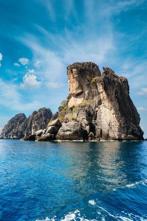 Mu Ko Chumphon Marine National Park, Buddha mountain. Beautiful rocks in the sea wich remind of Buddha face.
