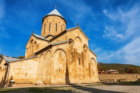Transfiguration Church. Samtavro Monastery has Living Pillar and the particle of the relics of the two saints of the thirteen Syrian Fathers. Mtskheta, Georgia