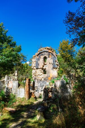 St. Astvatsatsin Holy Mother of God Church ruins in Aghveran