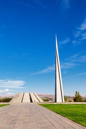 Tsitsernakaberd - The Armenian Genocide memorial complex is Armenia official memorial dedicated to the victims of the Armenian Genocide in Yerevan, Armenia. Stock Photo