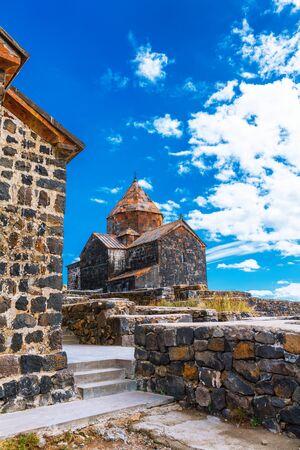Scenic view of an old Sevanavank church in Sevan, Armenia