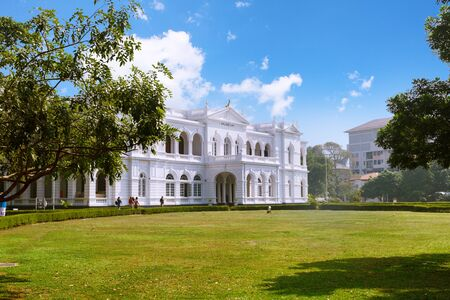 Colombo, Sri Lanka - 11 February 2017: The National Museum of Colombo has a rich collection of Asian arts. Front view Editorial
