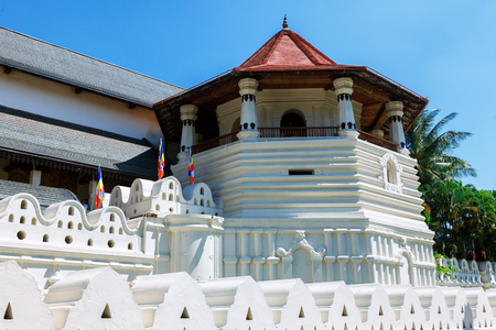Temple of the Tooth Buddha in Kandy Sri Lanka front view