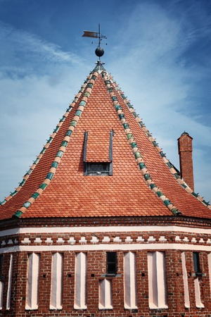 Ancient Mir Castle of 13th century, Belarus. textured wall