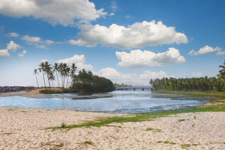 The Backwaters of Kerala near Varkala black beach