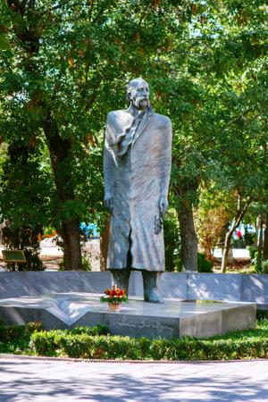 Yerevan, Armenia - September 26, 2016: The statue of William Saroyan