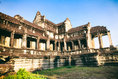 korat: Front view of Angkor wat main temple in Siem Reap, Cambodia