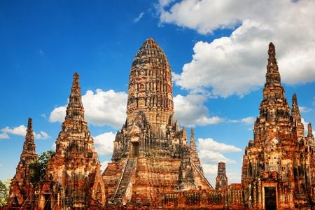 Wat Phra Ram Temple in Ayutthaya Historical Park in Thailand Stock Photo