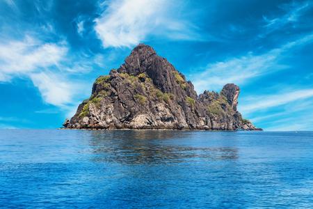 Big rock island, Moo Koh Chumphon, Chumohon province, Thailand., Ngam Yai Island. Belongs to Marine National Park Chumphon, fishing and diving
