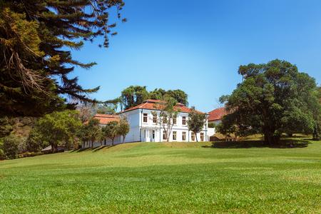 Panoramic view of Royal Botanical King Gardens and museum, Peradeniya, Sri Lanka, locates near Kandy