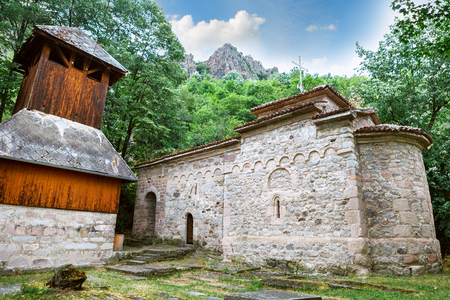Borac Fortress and orthodox church St. Archangel Gavrilo, Borac Serbia. Remains from old town