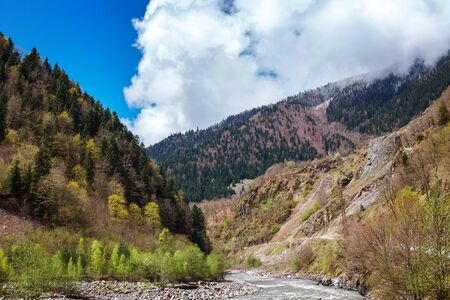 Kutaisi. Rioni River. Military road from Racha Lower to Upper Svaneti, Adjara