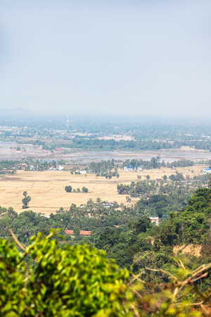 Viewpoint from Kep National Park, Cambodia. Jungles in Kampot province