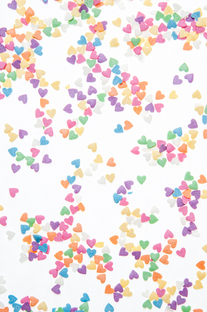 sprinkle: Sugar sprinkle dots, decoration for cake and bakery, a lot of sprinkles as a background