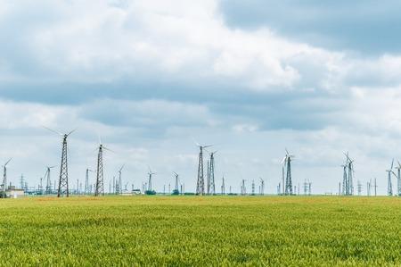 wind power plant: Eco power, wind turbines, wind power plant
