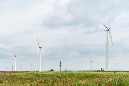 Eco power, wind turbines, wind power plant Zdjęcie Seryjne