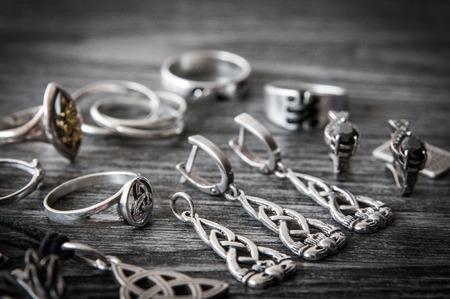 Beautiful ethnic Scandinavian Celtic Claddagh Silver jewelry Necklace, Earrings, Bracelets