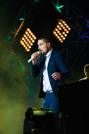 CRIMEA, BALAKLAVA - August 05: Russian singer Dima Bilan perform on the ZB-FEST concert at Zolotaya Balka on August 05, 2017 in Crimea