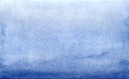 Watercolor blue brush strokes gradient background design. Reklamní fotografie