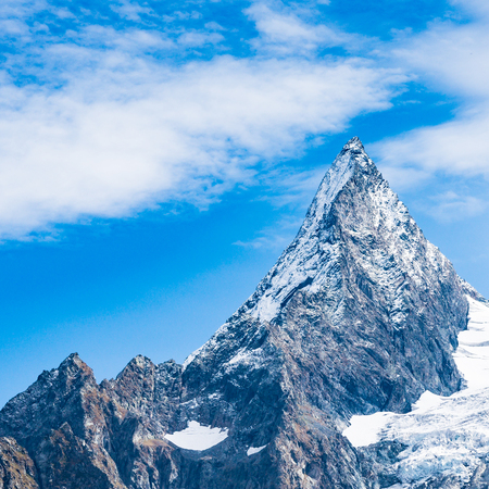 Mountain peak Dombay. National Park, Russia, Karachay-Cherkessia